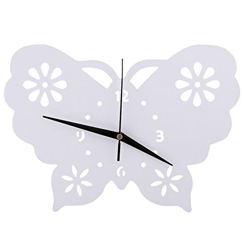 Papillon Horloge murale Chambre d'enfant Chambre Horloge silencieuse Belle Famille Décoration Boutique