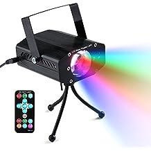 lederTEK 5W Luz Mini Proyector de Escenario, Efecto Onda de Agua, LED Lámpara con Controlador Remoto, para Discoteca, Bar, Casa