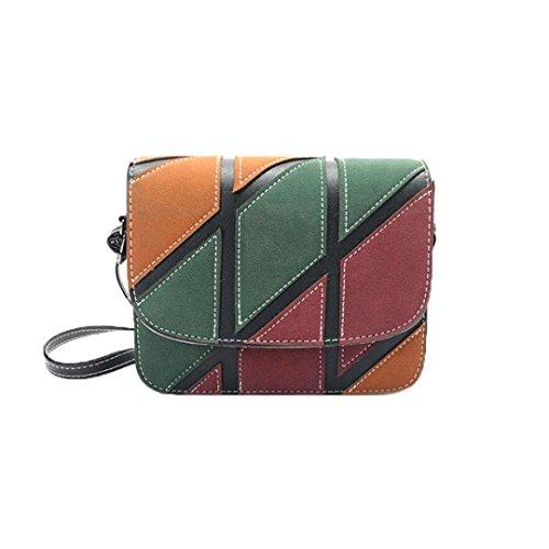 Damen Handtaschen, Huhu833 Lässige Schultertasche Frauen kleine Taschen Retro Handtasche weibliche Umhängetasche Schwarz