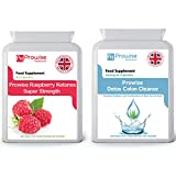 Prowise Raspberry with Colon Cleanse Detox - UK Manufactured GMP Guaranteed Quality Assurance by Prowise Healthcare