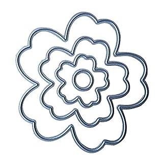 Rekkles Flowers Cutting Dies Stencil DIY Scrapbooking Embossing Album Paper Card Crafts Carbon Steel Template Set