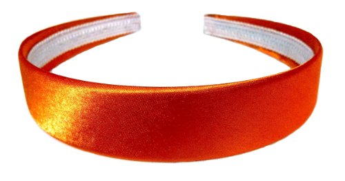 aliceband - bunte Ebene 2.5cm breit Satin Haarband Haarreif[orange]