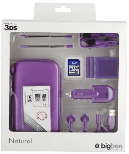 """Nintendo 3DS - Zubehör-Set """"Natural"""" (farbig sortiert)"""