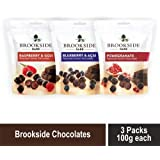 Brookside Dark Chocolate Pomegranate 100g, Blueberry and Acai 100g & Raspberry and Goji 100g Pouch, 3 x 100 g