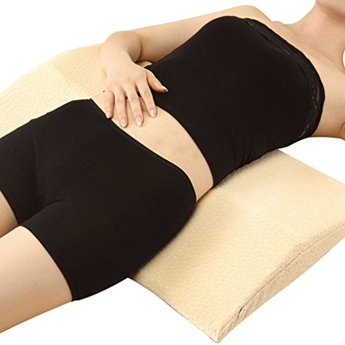 LUN Long Sleeping Pillow for Back Pain,Multifunctional Memory Foam Lumbar Support Cushion for Hip,Sciatic Nerve Pain Relief , green