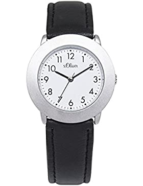 s.Oliver Damen-Armbanduhr Analog Quarz Leder SO-15016-LQR