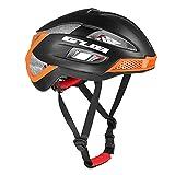 Gwanna Fahrradhelm für Erwachsene, leicht, Mountainbike, Rennrad, Fahrrad, Schutzhelm für Männer und Frauen, schwarz/orange