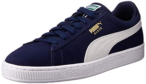 Puma Herren Suede Classic + Sneakers, Blau (Peacoat-White), 43 EU