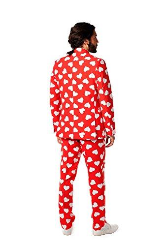 Mr Lover vestito rosso bianco a forma di cuore Chen Slimline uomo 3 teilig merotoner Rosso