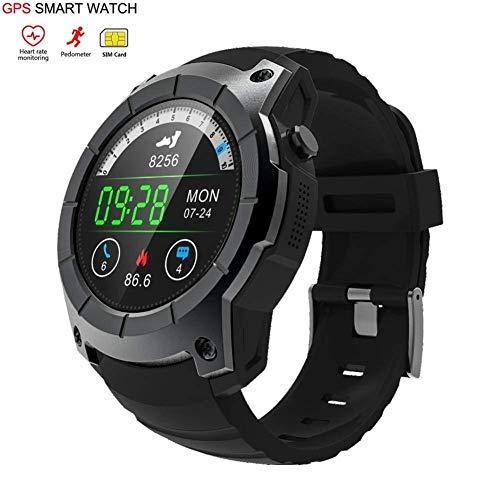 OOLIFENG Smartwatch, Laufen Uhren mit GPS, Pulsmesser, Kompass, Sport Schrittzähler für iOS...