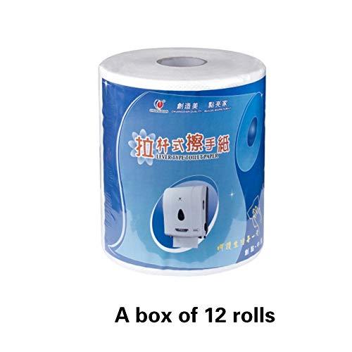 Anyer Induktionspapiermaschine Rollentyp Automatischer Papiereinzug Vollautomatische Induktionspapierbox Toilettenpapier High-End-Club Hotel Bürogebäude,C - Papiereinzug