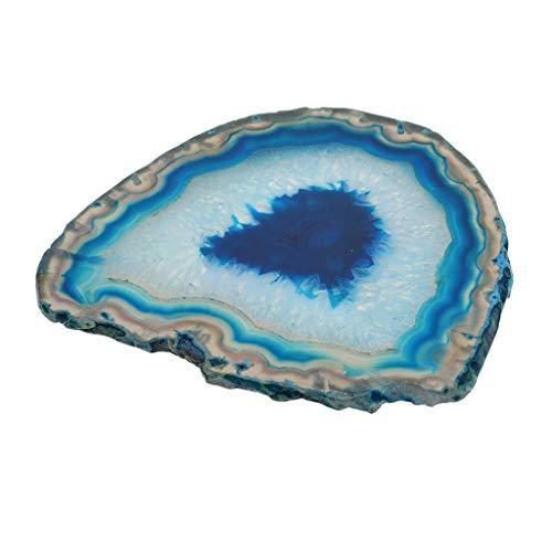F fityle fette agata naturale multi-usi lotto forma irregolare forniture decorazione fai da te 110-140 mm - blu