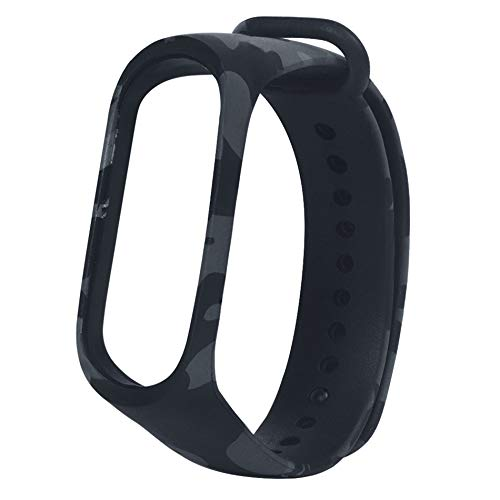 MStick Grey Replacement Silicone Camouflage Army Style Band Strap for Xiaomi Mi Band 3
