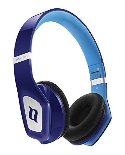 Noontec ZORO II HD Headphone, Professional Sound Good Sound Quality, Durable, Foldable, Comfortable, Adjustable Fashion on Ear Stereo Headphone Earphone for Mobile Phone Smart Phone (Blue)