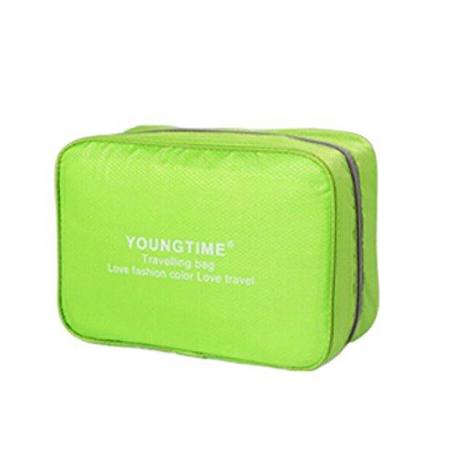 Unisexe maquillage cosmétique sac étanche Voyage Organisateur bagages,vert C