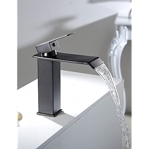 Luxury classic olio strofinato cascata di bronzo il lavandino del bagno rubinetto vaso per WC vanità a caldo e a freddo i rubinetti del lavandino Rubinetto acqua calda e fredda rubinetto rubinetti