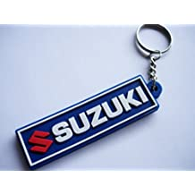Keychains llavero – Suzuki – Blue – Motocross – Motorcycle – Motorbike – Car – Scooter – Key Ring – Kautschuk rrubber Keyring – Perfect also Bags, Wallets oro Briefcase – Give away
