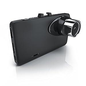 CSL – Dashcam in Full HD   HD Autokamera inkl. KFZ-Ladegerätkabel   KFZ-Unfallkamera / Car Dash Cam   Loop Recording   150° Weitwinkelobjektiv   G-Sensor   Anti-Shake-Bildstabilisierung