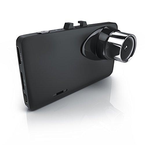 CSL – Dashcam in Full HD | HD Autokamera inkl. KFZ-Ladegerätkabel | KFZ-Unfallkamera / Car Dash Cam | Loop Recording | 150° Weitwinkelobjektiv | G-Sensor | Anti-Shake-Bildstabilisierung