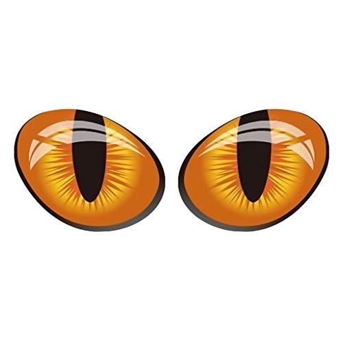 Theshy Auto personalità Divertente Autoadesivo Adesivo Divertente 3D Occhi di Gatto Adesivi per Auto Adesivi Stereo Adesivi Decorativi Adesivi Gratta E Vinci Adesivi Gratuiti (Arancione)