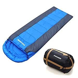 PIXNOR Sleeping Bag Waterproof Envelope Sleeping Bag, 4 Season Lightweight 20-50F, Great for Outdoor Camping, Hiking and Outdoor Activities