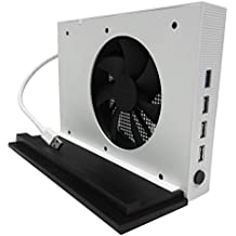 Xbox One S USB HUB, Vertical Stand Base Holder Mount +Cooler + USB HUB For Xbox One S