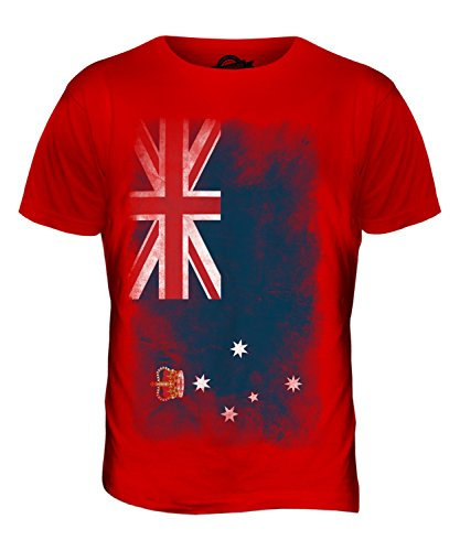 CandyMix Victoria Verblichen Flagge Herren T Shirt Rot