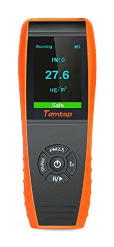 Temtop P600 Misuratore di precisione professionale per misuratore di particelle di laser di qualità dell\'aria per PM2.5 / PM10 Display LCD a colori TFT✩Garanzia di tre anni✩