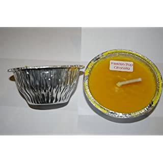 Amafino Citronella Flammschale 10 Stück 10 cm Brenndauer Mind. 24 Std. Garten Gartenkerzenlicht Partylicht Grill