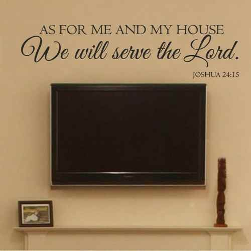 Wandtattoo As for Me and My House We Will Serve The Lord (englischsprachig) Art Deco 8.5