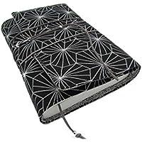 Protège livre fait main, couverture livre format poche/littéraire roman, couvre livre en tissu prisme, cadeaux, voyage, noël, anniversaire