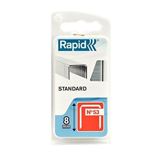 Rapid 40109561 Lot de 1080 agrafes n°53 53/8 mm