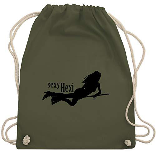 Halloween - sexy Hexy - Unisize - Olivgrün - WM110 - Turnbeutel & Gym Bag