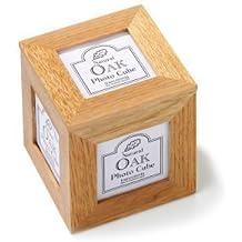 Transomnia - Cubo de madera de roble para fotos