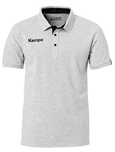 Kempa Herren Prime Polo Shirt grau mélange/Schwarz