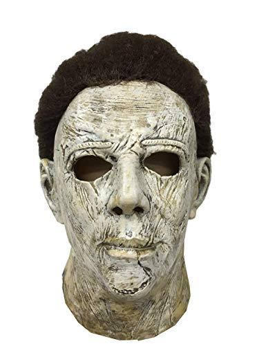 Michael Myers Maske aus Halloween Original Horror Mask Latexmaske mit Haar Film Kostüm Zubehör Atmungsaktiv Leicht Weich 300g - Filme Mit Kostüm