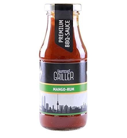 Hauptstadtgriller BBQ Sauce Mango Rum, Premium Grillsauce in Bio Qualität (1 x 240ml) (Bio-saison Salz)