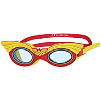 Zoggs Kids' Wonder Woman Character Swimming Goggles, Red/Yellow, 6-14 Years