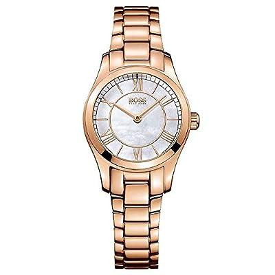Hugo Boss 1502378 - Reloj con Correa de Piel para Mujer, Color marrón/Gris de Hugo Boss