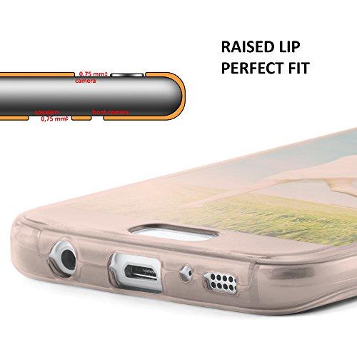 iPhone X Hülle Silikon Transparent 360 Grad [OneFlow Double Side Cover] Dünne Schutzhülle Slim Handyhülle für iPhone X Case Klar Silikonhülle TPU ROSE