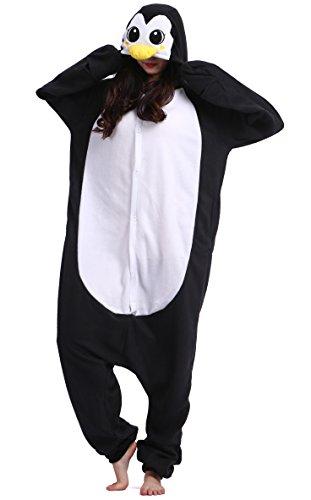 Unisexe Adulte Animal Cosplay Kigurumi Pyjama pour taille 140-187 cm - Pingouin Noir