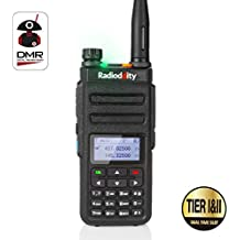 Radioddity GD-77 Dual Band Dual Time Slot DMR Digital / Analog Walkie talkie 1024 Channels PMR Ham Amateur Radio Compatible with MOTOTRBO, gratis Cable de programación