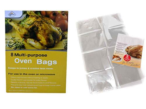 St@llion Bratbeutel, Backofen, Hühnerbeutel, für Fleisch, Geflügel, Fisch, Meeresfrüchte, Gemüse, Ofen, Mikrowellentasche Küche