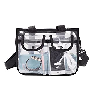 Asnlove Clear Bag, Crossbody Messenger Shoulder Bag Tote With Adjustable Strap, Transparent Purse for Sports, Beach, Casual, Work - 27*9*20cm