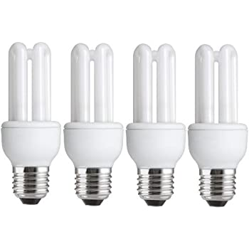 4 x energy saving 11w 54w 60w e27 es cfl light bulbs edison screw 620 660 lumen 10 years. Black Bedroom Furniture Sets. Home Design Ideas