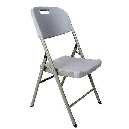 OaLt-t Klappbarer Bürostuhl Rückenlehne Stuhl für Zuhause Einfacher Esszimmerstuhl Tragbarer Trade Series Klappstuhl (Color : Gray) -