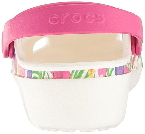 Crocs Karin Clog W Whi/FLR, Sabots Femme Blanc (White/Floral)