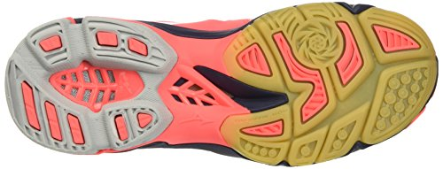 Mizuno Wave Lightning Z3 Mid (W), Scarpe Indoor Multisport Donna Multicolore (FieryCoral/White/DressBlues)
