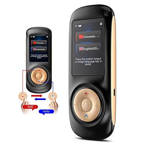Slinlu Smart Sprachübersetzer Gerät mit 2.4 Zoll IPS Touchscreen WiFi Zwei-Wege Echtzeit Instant Language Übersetzer Unterstützung 70 Sprachen für Learning Travel Shopping Business,Schwarz