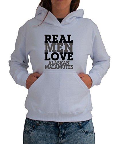 Felpa con Cappuccio da Donna REAL MEN LOVE Alaskan Malamute
